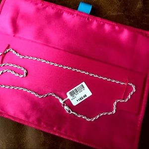 """20"""" Italian Silver Rope Chain Necklace"""